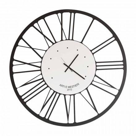 Relógio de parede de ferro design fabricado na Itália - Gioele