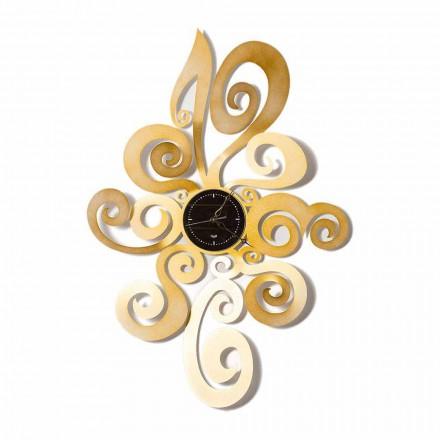 Relógio de parede de ferro com design moderno fabricado na Itália - Noel