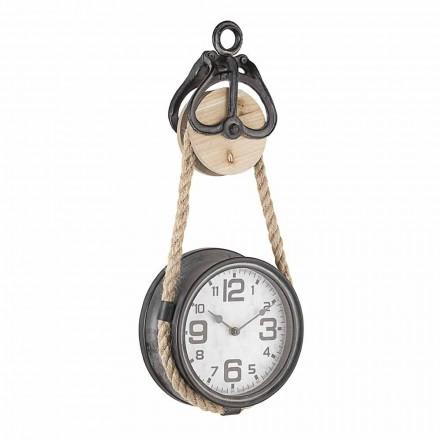 Relógio de Parede Design Vintage em Aço e Vidro Homemotion - Edvige
