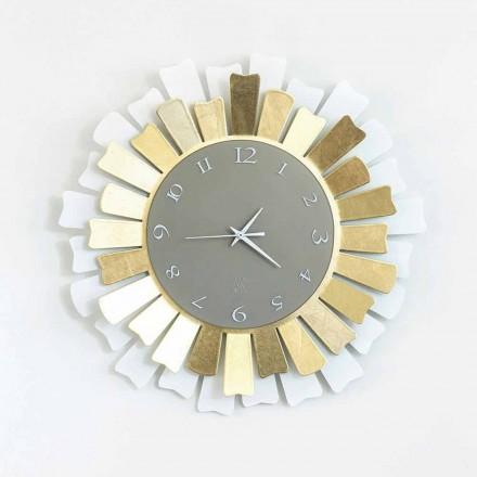 Relógio de parede de ferro circular de dois tons moderno, fabricado na Itália - Lussuria