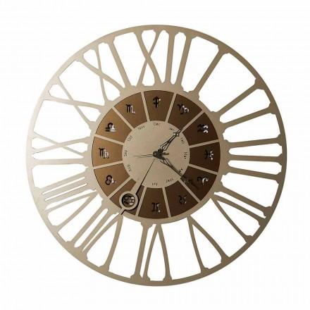 Made in Italy Relógio de parede com design em ferro bicolor - Capricórnio