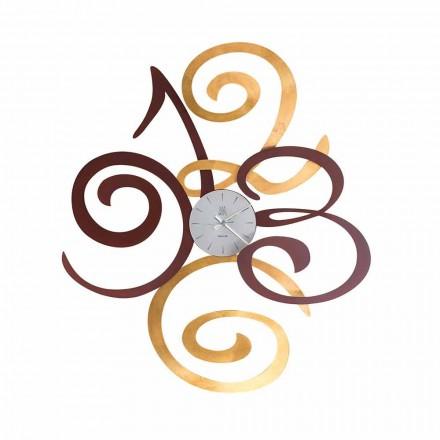 Relógio de parede design em ferro colorido fabricado na Itália - Fiordaliso