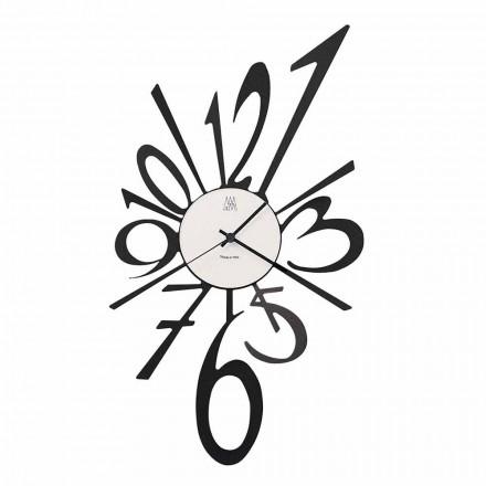 Relógio de parede design em ferro preto ou alumínio fabricado na Itália - Oceano