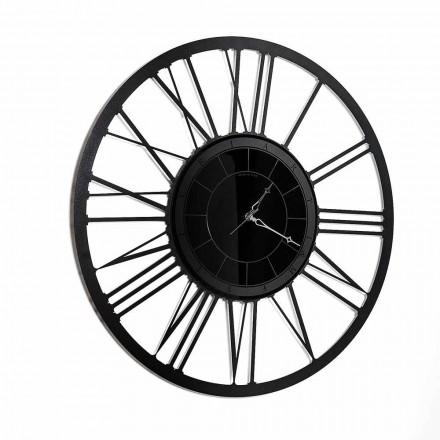 Relógio de parede com espelho de ferro de design moderno fabricado na Itália - Gioele