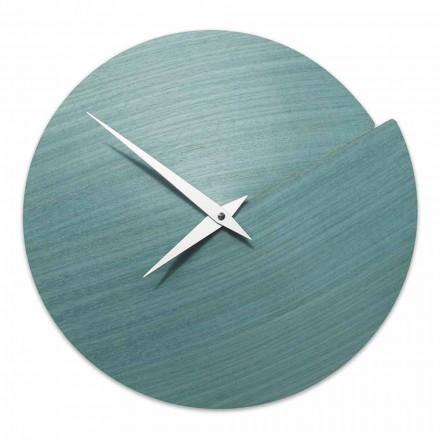 Relógio de parede de design moderno em madeira natural fabricada na Itália - Cratere
