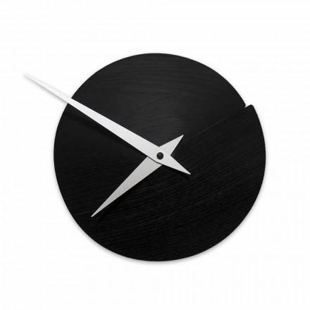 Relógio de parede redondo Diâmetro 19,5 cm em madeira Made in Italy - Cratere