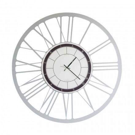 Relógio de parede de ferro moderno de tamanho grande fabricado na Itália - Einar