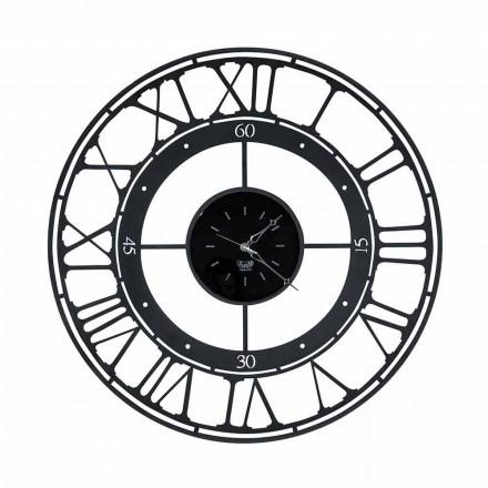 Relógio de parede estilo tradicional em ferro colorido fabricado na Itália - cores