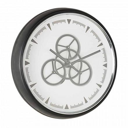Relógio de Parede Diâmetro 50 cm em Aço e Vidro Homemotion - Severio