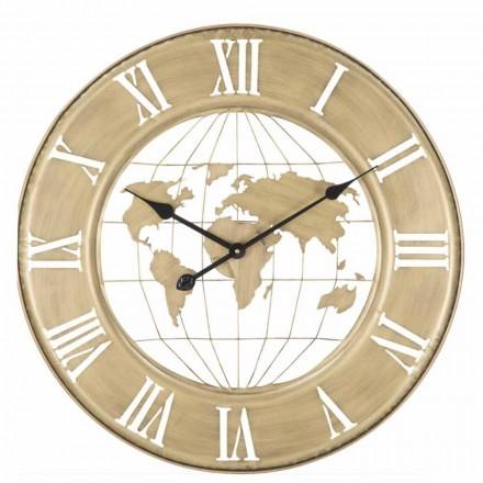 Relógio de parede de ferro de design moderno com 63 cm de diâmetro - Telma