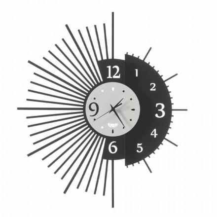 Relógio de parede de ferro elegante design feito na Itália - Aneto