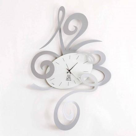 Relógio de parede em ferro preto, alumínio ou vermelho fabricado na Itália - Rosbif