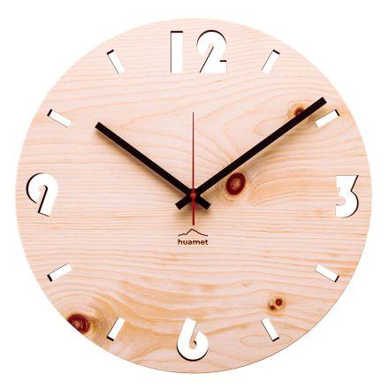 Relógio de parede em madeira de pinho suíço feita na Itália Andrea