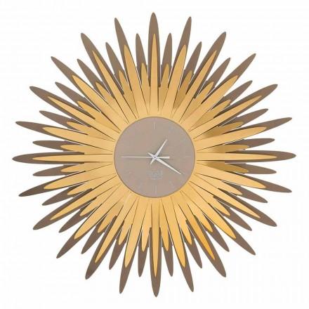 Relógio de parede moderno com forma de ferro fabricado na Itália - Fuoco