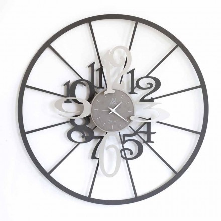 Moderno Relógio de parede circular de ferro com dois tons fabricado na Itália - Calipso