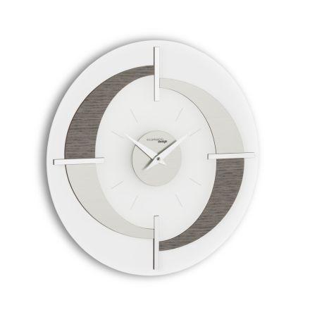 Relógio de parede com um design moderno Giove, feito na Itália