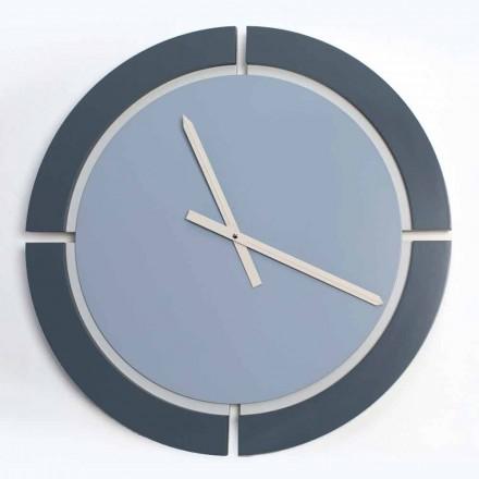 Relógio de parede redondo moderno em Avio azul branco - Savio