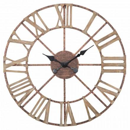 Diâmetro do relógio de parede moderno 71,5 cm em ferro e MDF - Carcaças
