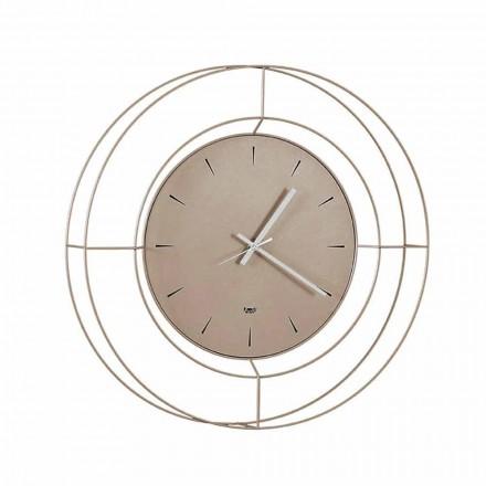 Relógio de parede moderno em aço colorido fabricado na Itália - Adalgiso