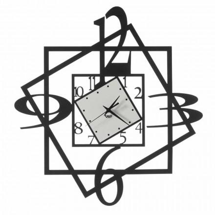 Moderno design geométrico de relógio de parede de ferro feito na Itália - Procida