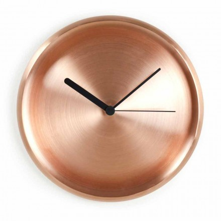 Relógio de parede redondo com design de cobre polido feito na Itália - Ogio