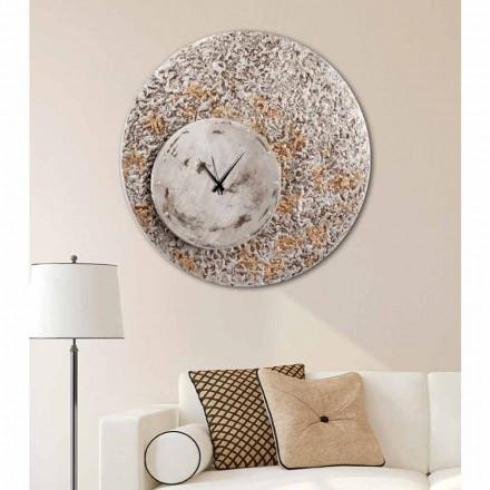 Relógio de parede de design moderno Eccli em dois níveis, fabricado na Itália