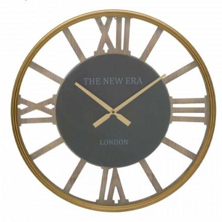 Relógio de parede redondo com diâmetro de 60 cm de design em MDF - Krizia