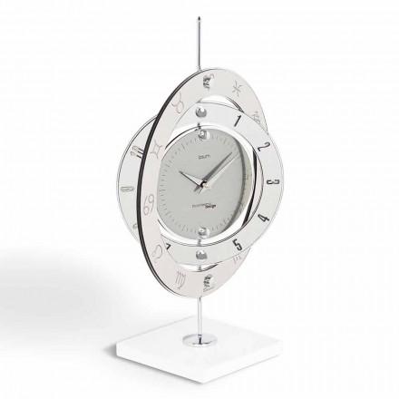 Relógio de mesa de design moderno Plutone, fabricado na Itália
