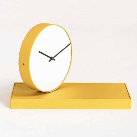 Relógio de mesa giratório com espelho de aço Made in Italy - Meritorious