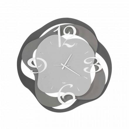 Relógio de parede design moderno em ferro fabricado na Itália - Gertrude