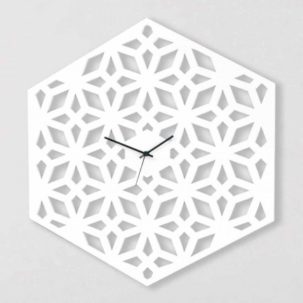 Relógio de parede grande em madeira de pomba branca, cinza ou verde - Tarto