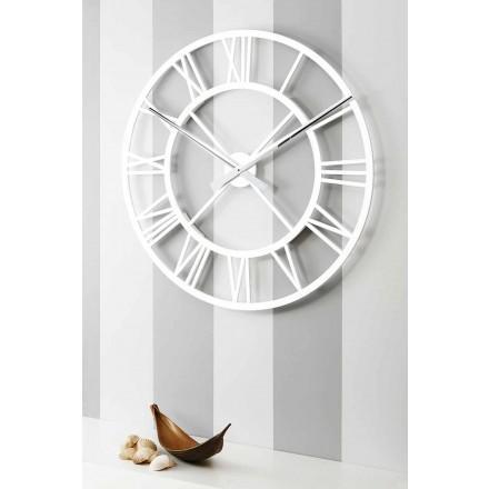 Relógio de parede grande chique gasto em madeira de design vintage - Arrigo