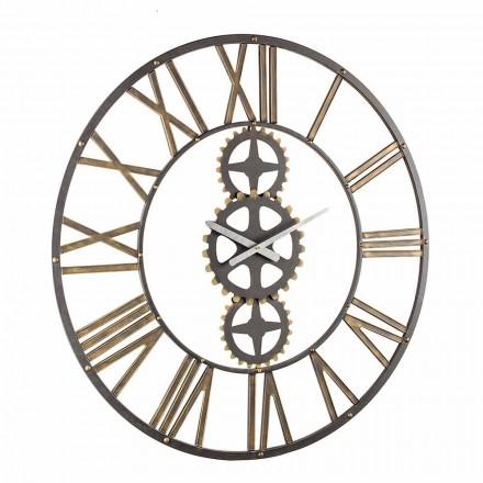 Grande Relógio de Parede Estilo Vintage em Aço Homemotion - Maio