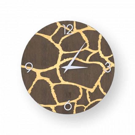 Acri relógio de parede de design moderno feito de madeira, produzido na Itália