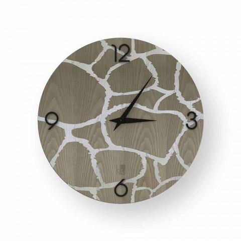 Acri relógio de parede em design moderno, feito na Itália