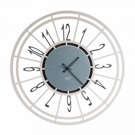 Relógio de parede moderno em ferro, avelã ou preto, fabricado na Itália - Topino