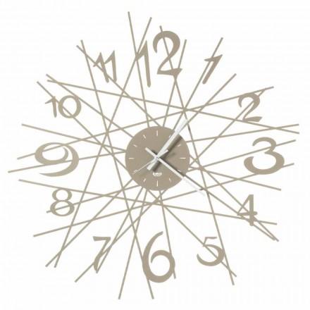 Relógio de parede redondo de ferro com design feito na Itália - Kombo
