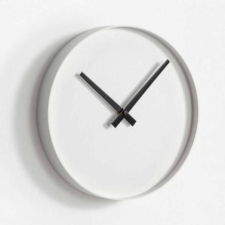 Relógio de parede redondo de design em metal pintado mate - Orogio