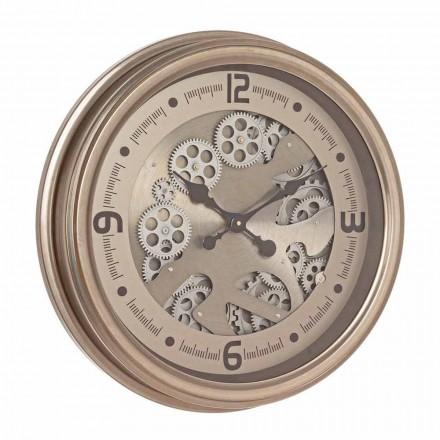 Relógio de Parede Redondo em Aço e Mdf Classic Design Homemotion - Tapeçaria