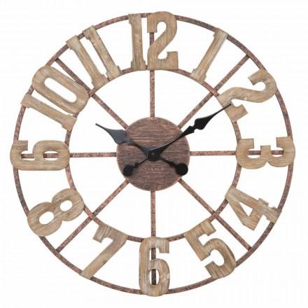 Relógio de parede redondo Design moderno em ferro e MDF - Taichi