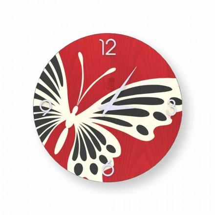 Zelbio design redondo relógio de parede de madeira, produzido na Itália