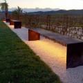 Banco Externo Feito à Mão em Aço com Luz LED Made in Italy - Magdalena