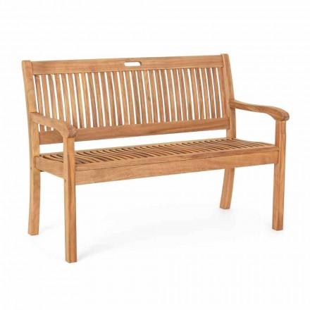Banco de jardim em madeira de acácia para ambientes externos de 2 ou 3 lugares - Roxen