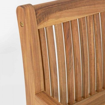 Banco de jardim de madeira para exterior de 2/3 lugares - Roxen