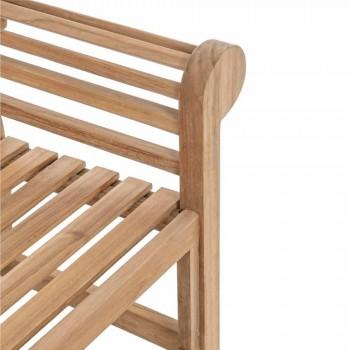 Banco de jardim em madeira de teca com design rústico - Simonia