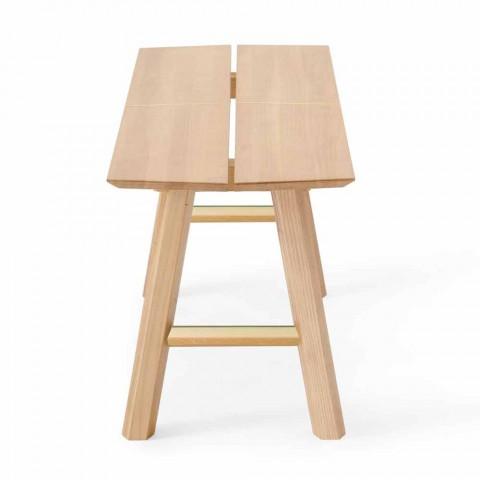 Banco de Design Moderno em madeira de freixo com assento folheado - Andria