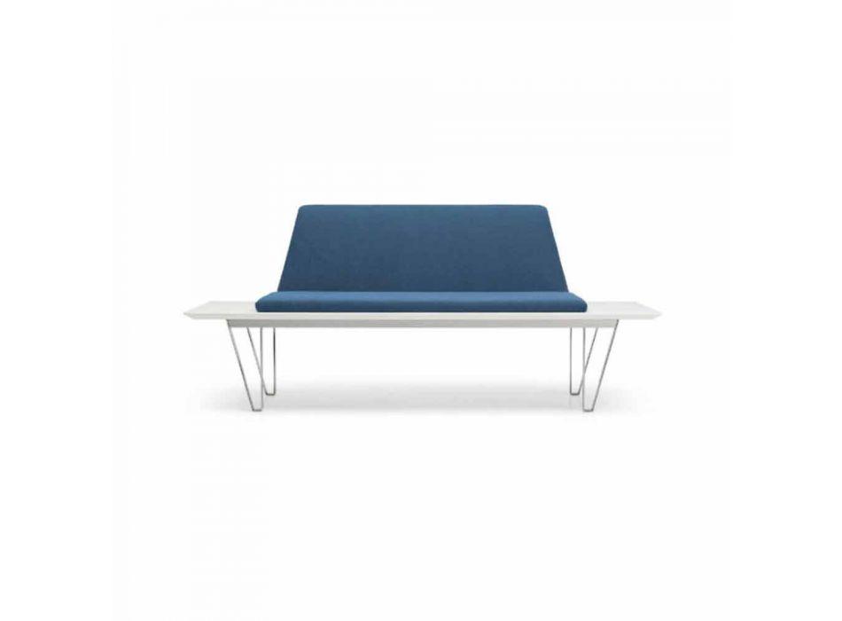 Bancada Estofada e Estofada em Aço e Base em Mdf Design Minimalista Moderno - Gardena