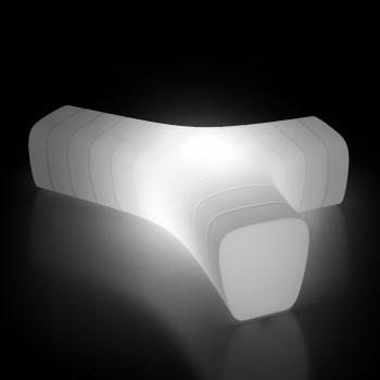 Banco de Jardim Luminoso em Polietileno com LED Made in Italy - Galatea