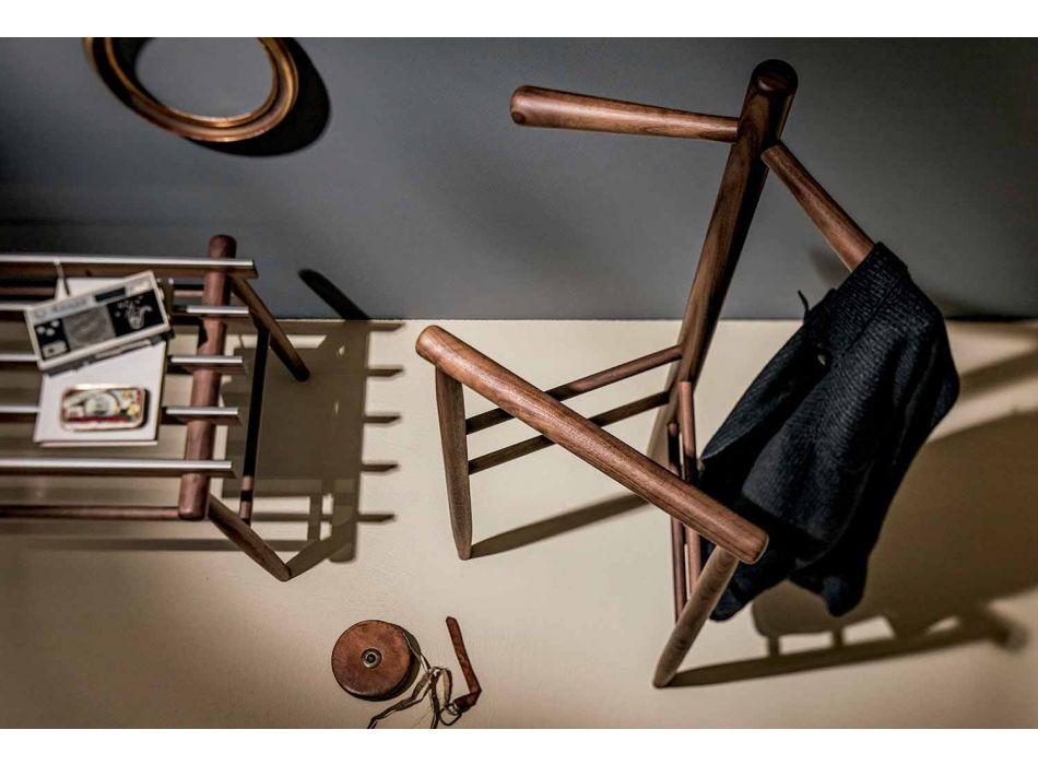 Banco de bagagem em nogueira maciça ou cinza made in Italy - Anubi