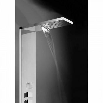 Chuveiro multifunções em aço com painéis Bossini Manhattan Column